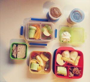 Heutiges Kindergarten-Frühstück