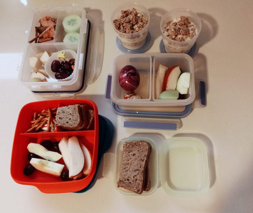 Kindergarten-Frühstück mit Schichtmüsli