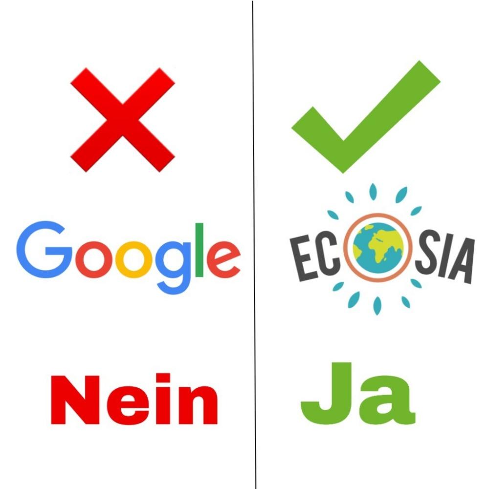 Ecosia statt Google