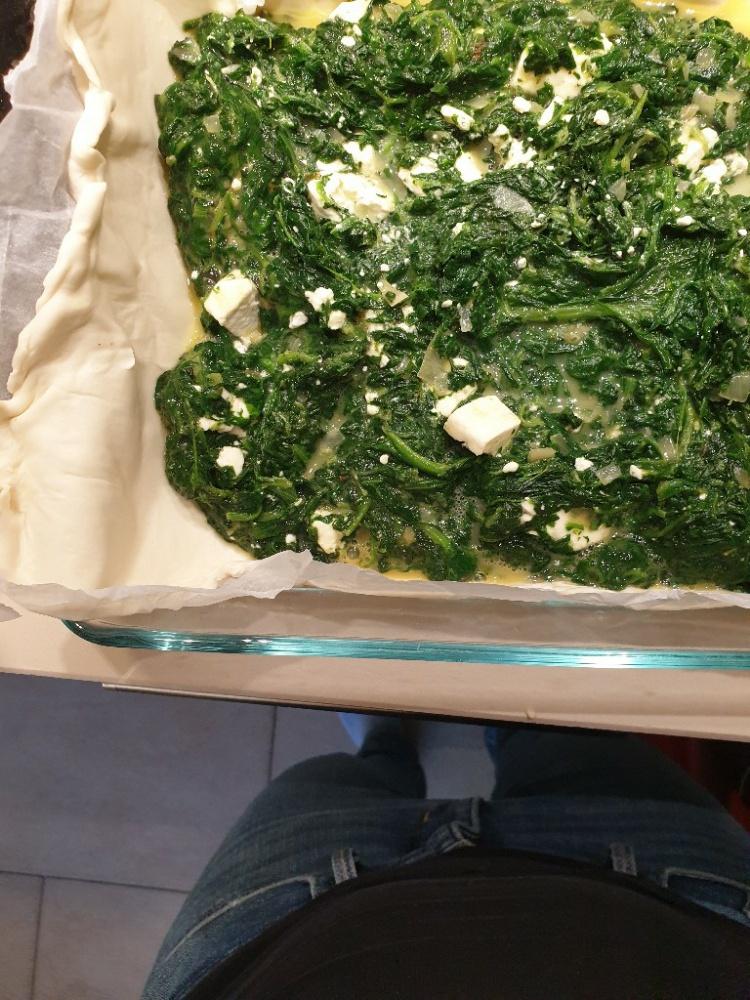 Feta-Auflauf mit Spinat